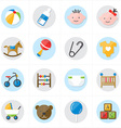 Flat Icons For Baby Icons and Toys Icons vector image vector image