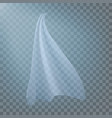 fluttering white cloth viel silk fabric vector image