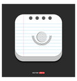 golf champion icon gray icon on notepad style vector image