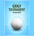 golf tournament poster template flyer golf ball vector image