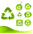 green recycling design kit vector image vector image
