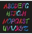 Handwriting stylish alphabet vector image vector image
