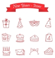 Happy New Year icons art vector image vector image