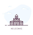 helsinki line style building vector image