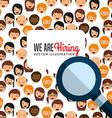 hiring workers design vector image