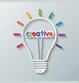 idea creative light bulb vector image vector image