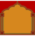 Indian pattern frame vector image vector image
