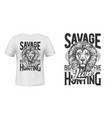 lion trophy hunting t-shirt print template vector image vector image