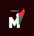 madagascar initial letter country with map and vector image vector image