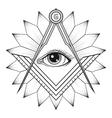 Masonic square and compass symbol Freemason vector image