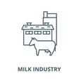 milk industry line icon linear concept vector image