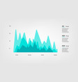 mountain diagram elements color infographics some vector image