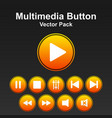 multimedia button pack image vector image