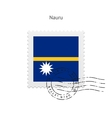 Nauru Flag Postage Stamp vector image