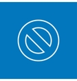 Not allowed sign line icon vector image