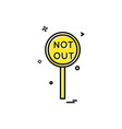 notout decision umpire icon design vector image