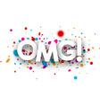 Omg paper card vector image vector image