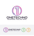one techno logo vector image
