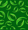 pattern from green and yellow curls on a forest vector image