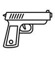 policeman gun icon outline style vector image vector image