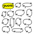 quote frame set citation blank template vector image vector image