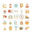 ramadan arabic islamic celebration icon set tone vector image