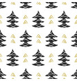 scandinavian forest trees nordic seamless pattern vector image vector image