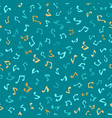 seamless blue music pattern vector image vector image