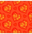 Seamless Pattern Hearts with Butterflies vector image