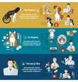 set horizontal banners pet care vet clinic vector image