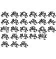 set letters alphabet steampunk vector image