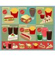 Set of Retro fast food menu vector image vector image