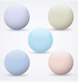 set of spheres on a white background vector image