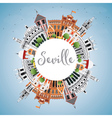 Seville Skyline with Color Buildings vector image vector image