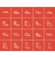 Shoes sketch icon set vector image vector image