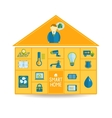 Smart home automation technology concept vector image