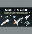 space research concept banner flat style vector image vector image