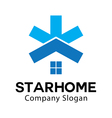 Star Home Design vector image