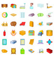 stock icons set cartoon style vector image vector image
