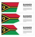 vanuatu flag banners collection independence day vector image vector image