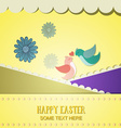 with spring and spring flower vector image vector image