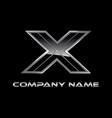 x logo design vector image
