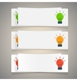 Set of simple icons flat color light bulbs vector image
