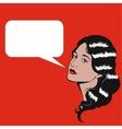 Pop Art retro of woman with speech vector image