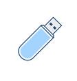 disk drive flash pendrive storage usb icon vector image
