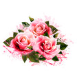 natural background with roses vintage vector image