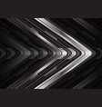 abstract steel arrow curve cyber direction vector image