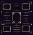 art deco border frames vintage arabic golden vector image vector image