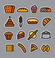 bakery stickers vector image vector image