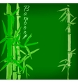 Bamboo sumi-e ink painted card vector image